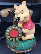 Vtg Disney Winnie the Pooh Corded Push Button Desk Phone Telemania