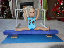 "GYMNASTICS BALANCE BEAM PARALLEL BARS MAT 18"" FOR AMERICAN GIRL DOLL SHIPS DAILY"