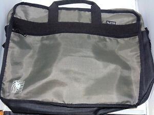 Harris Bank Travel Shoulder Bag Gray Black Soft Adjustable Strap Carry On Office