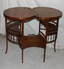 Antique Fancy Oak Lamp or Small Table