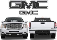 Matte Black Front & Rear Emblem Vinyl Decal Overlays DIY For GMC Trucks New USA