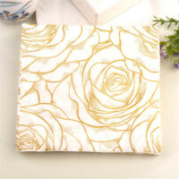 20x golden rose flower paper napkins serviette tissue party supply home decor  X