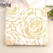20pcs golden rose flower paper napkins serviette tissue party supply home ~OY