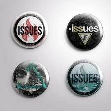 """4 ISSUES METALCORE BAND - Pinbacks Badges Buttons 1"""" 25mm"""
