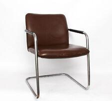 Stahlrohr Armlehn Sessel von Fröscher  Art Deco Bauhaus Design