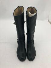 Frye Ladies Back Zip Boot   Size 5.5   Leather   Black