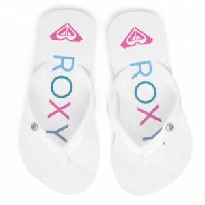 ROXY Mädchen Zehentrenner Sandy Mode Kinder Freizeit Hausschuhe Rutschen