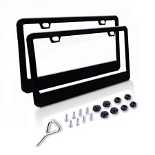 Stainless Steel license plate frame, front and back frames,fasteners include