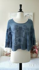 Beautiful Boho Chic Embroidered Top By Murmur, Size Small, NWT