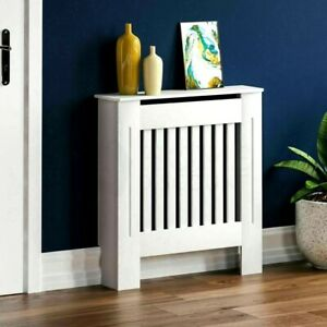 NEW Modern White Cabinet Slatted Grill Wood Furniture | Chelsea Radiator Covers