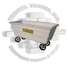 "Rolling Poly Mud Tub Poly Tough Tub With 8"" Casters Mortar Box Trough Grout Box"