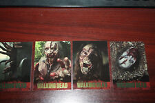 2011 Cryptozoic The Walking Dead Season 1 trading card Gold Foil COMPLETE SET