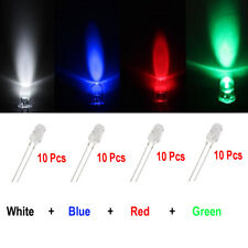 40x White Blue Red Green 5mm mini Led Bulb Instrument Cluster Gauge Panel Light