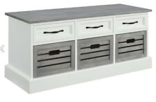 Weathered Grey And White Storage Bench by Coaster 501196