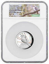 2020 P Australia $8 5 oz Silver Kookaburra Pink Gold Gilding HR NGC PF70 UC FR