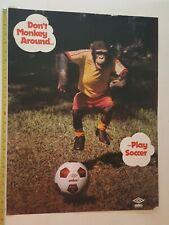 Vintage Soccer Poster -- UMBRO -- 1980s
