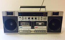 SEARS SR2100 SERIES VINTAGE BOOMBOX Dual Deck Double Cassette Player & Recorder