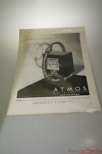 Rare 1931 original Atmos Reutter Newspaper Ad Free Ship Kirby , Beard & Co