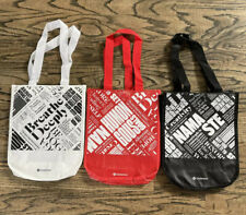 Lululemon Shopping Holiday Gift Bags (3) Small Tote Red Black White NEW