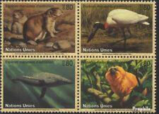 VN - Genève 245-248 Blok van vier postfris 1994 Affected Dieren
