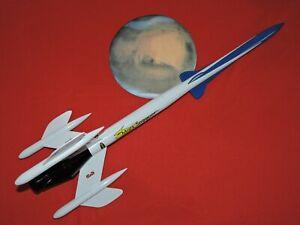ESTES #7309 SUPER MARS SNOOPER FLYING MODEL ROCKET, BUILT, uses 24mm engine