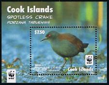 Cook Islands WWF Spotless Crake Bird Souvenir Sheet Stamp Issue