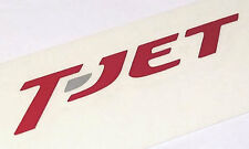 "FIAT 500 Abarth / Bravo / Tipo ""T-Jet"" Script Decal, RED - 1.4 120HP / 150HP"