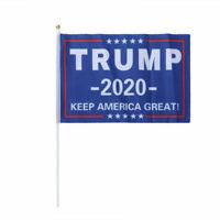 2Pcs Trump 2020 No More Bullshit Banner 2020 Banner Trump Flag Home Garden