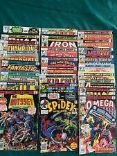 25 Unread Marvel Bronze Age Comics Fine or Better with Some Moisture Spots