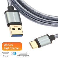 QC3.0 Fast Charging 3A Cable Charger USB 3.1 For Sumsung S9 S10 S20 Note 10 9 8+