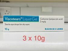 Viscotears Liquid Eye Gel 3 X 10g - For Soothing Relief Of Dry Eye