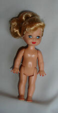 nude Barbie little sis Kelly doll ponytail with red painted toenails fingernails