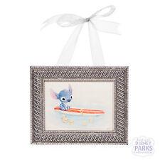 "Disney Parks Stitch ""Swimming Lessons"" by Sydney Hanson Mini Framed Giclee"
