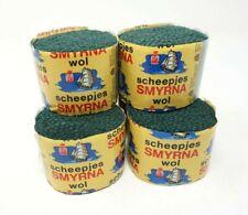 6 Vintage Scheepjes Smyrna Wol Pre-Cut Yarn Virgin Wool Latch Hook Rug Green