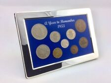 65th Birthday, Anniversary or Retirement Gift - 1953 Framed Coin Year Boxed Set