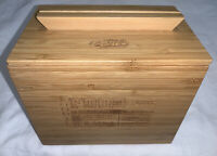 """Raising Cane's Chicken Wooden Recipe Box With Dividers - 7""""x5"""""""