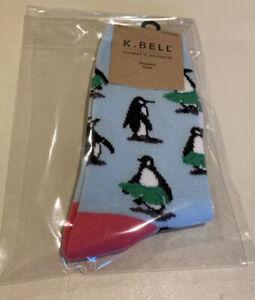 K.Bell Women's Socks Hula Penguin Fits Shoe Size 9-11