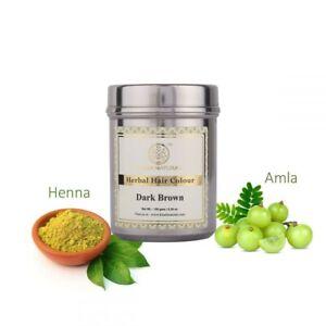 Khadi Natural Herbal Hair Colour Dark Brown 150gms **UK STOCK**