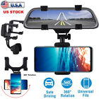 Universal Car Rear-view Mirror Mount Holder For IPhone Samsung Phone GPS 360° US