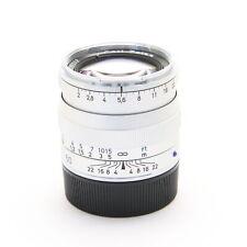 Carl Zeiss Planar T* 50mm F/2 ZM (for Leica M mount) Silver -Near Mint- #141