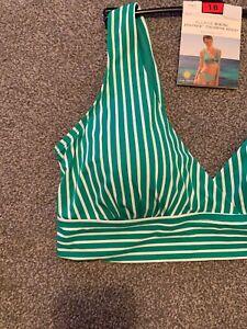 M&S Plunge Bikini Staynew Chlorine Resist Removable Cups Size 18