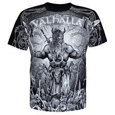 T-Shirt Valhalla Nordic Wikinger Drakar Viking Warrior Odin Thor Wiking Vikings