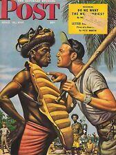 The Saturday Evening Post April 21 1945 Stevan Dohanos Vintage Birthday Gift