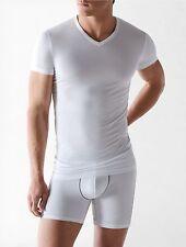 $65 CALVIN KLEIN Men Micro Modal S/S V NECK T SHIRT White U5563 UNDERSHIRT M