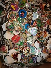 Lot of 200 Pogs Milk Caps Tazos with Jagged Edges 90s Nineties Toys