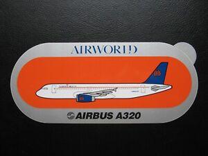 AIRWORLD sticker AIRBUS A 320 ORANGE