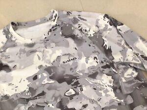Simms Solarflex UPF50 Long Sleeve Shirt Veil Camo Size L