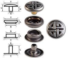"""Ringfeder-Druckknöpfe """"F3"""" 14mm Keltischer Knoten nickel-antik (nickelfrei)"""