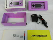 V3630 Nintendo Gameboy micro console Purple Japan w/box adapter x