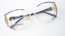 Damen Vintagebrille mit Metalldecor XXL Gestell oversized lila schwarz Gr. M